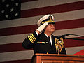 Change of command ceremony aboard USS George Washington 130123-N-MH885-025.jpg