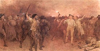 Jesuits, etc. Act 1584 - The Gordon Riots 1780, painting by Charles Green