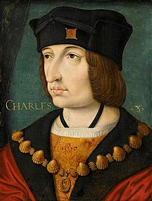 Contemporary painting of Charles VIII of France