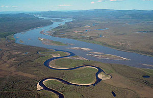 Yukon–Charley Rivers National Preserve - The Charley River where it joins the larger Yukon
