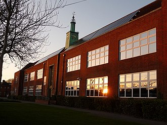 Bournemouth School - Bournemouth School in the evening sun.