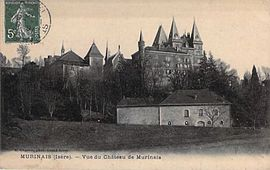 The chateau of Murinais at the start of the 20th century