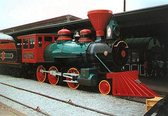 Chattanooga Choo-Choo Hotel - Representative old steam locomotive on display at Terminal Station.