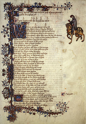 English words first attested in Chaucer - Image: Chaucer knight