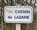 Chemin de Lazare (Mas Rillier) - panneau de rue.jpg