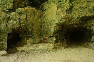 Cherney Maribel Caves County Park - Cave entrance at Cherney Maribel Caves County Park