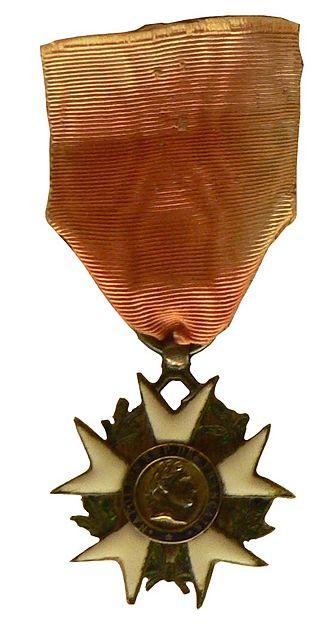 Jean Thurel - A similar Légion d'Honneur medal was awarded by Napoleon I to Thurel.