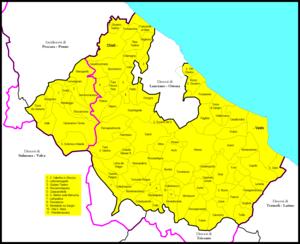 Roman Catholic Archdiocese of Chieti-Vasto - Image: Chieti Vasto diocesi