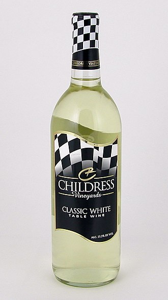 Davidson County, North Carolina - A bottle of Classic White Table Wine by Childress Vineyards