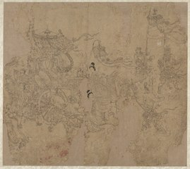 Album of Daoist and Buddhist Themes: Procession of Daoist Deities: Leaf 3