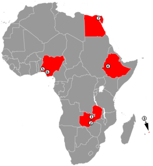 Africa–China economic relations - Image: Chinese Industrial Zones in Africa 2011