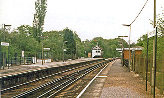 Christ's Hospital railway station - View NE, towards Horsham and London
