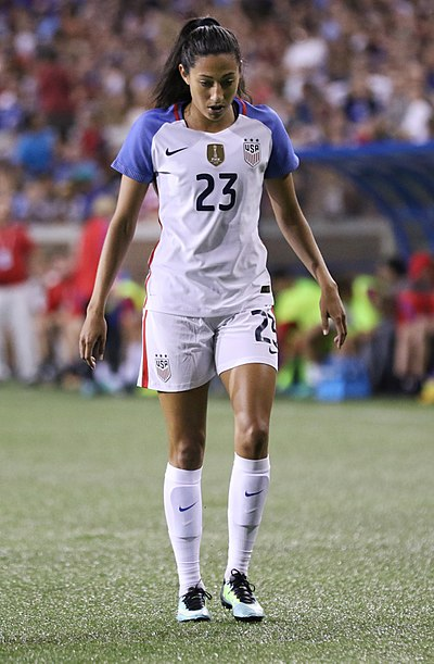 Press playing for the national team in 2017 Christen Press (23628856798).jpg