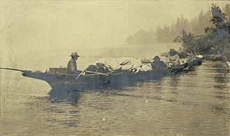 Duwamish people - Chudups John and others in a canoe on Lake Union, Seattle, c. 1885