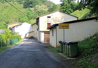 Čipnje Place in Slovene Littoral, Slovenia