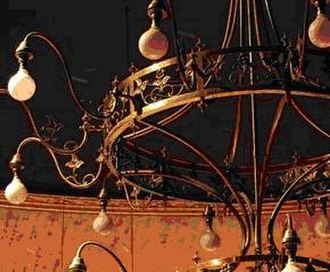 Citizens Theatre - The Victorian-era chandelier which hangs above the main auditorium