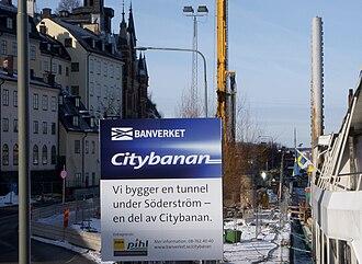 Stockholm City Line - Image: Citybanan 2009 03d