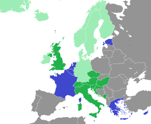 Civil union - Image: Civil Unions map Europe
