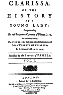 Clarissa, or, the History of a Young Lady (title page).png