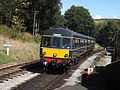 Class 101 DMU arrives at Oxenhope.JPG