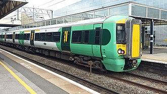 Southern (Govia Thameslink Railway) - Image: Class 377, Milton Keynes
