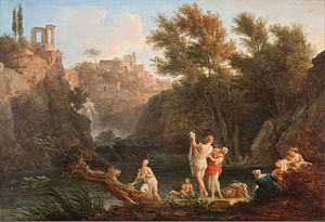 Four Times of the Day (Joseph Vernet) - Image: Claude Joseph Vernet The four times of day Evening Google Art Project