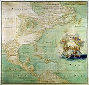 Map of North America in 1681