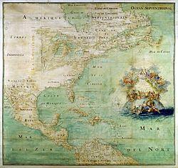 Claude Bernou Carte de lAmerique septentrionale