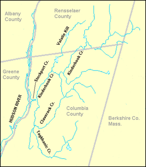 Claverack Creek - Main branches of Claverack Creek and Kinderhook Creek