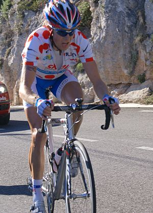 Paris–Nice - Clément Lhotellerie, polka dot jersey in the 2008 race.