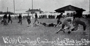Clemson–South Carolina rivalry - Action in the 1911 Clemson–USC football game