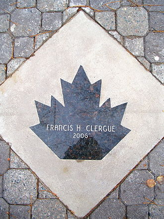 Sault Ste. Marie Walk of Fame - The Sault Ste. Marie Walk of Fame marker for Francis H. Clergue as it appeared embedded within the Queen Street sidewalk in 2006