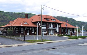 Clinchfield Railroad - Former Clinchfield Depot in Erwin, Tennessee
