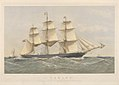 Clipper Ship Lahloo, 799 Tons, Preparing to land Pilot off the Owers 19th September 1867 RMG PY8578.jpg