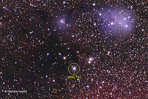 HD 259431 - Close-up on MWC 147 (north is left)
