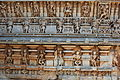 Close up of decorative relief on parapet wall in Chennakeshava temple at Hullekere.JPG