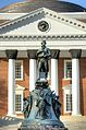 Close view of Statue and Rotunda at University of Virginia.jpg