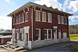 Coalmont, Tennessee - The historic Coalmont Bank Building serves as the Coalmont City Hall and Public Library.