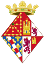 Coat of Arms of Eleanor of Castile, Queen Consort of Navarre.svg