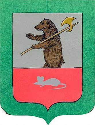 Myshkin (town) - Image: Coat of Arms of Myshkin (2007)