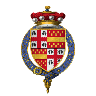 Henry Bourchier, 1st Earl of Essex - Image: Coat of Arms of Sir Henry Bourchier, 5th Baron Bourchier, KG