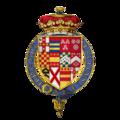 Coat of arms Sir George Villiers, 1st Duke of Buckingham, KG.png