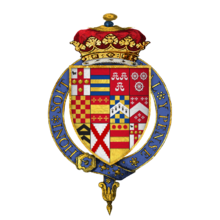 Coat of arms Sir George Villiers, 1st Duke of Buckingham, KG.png