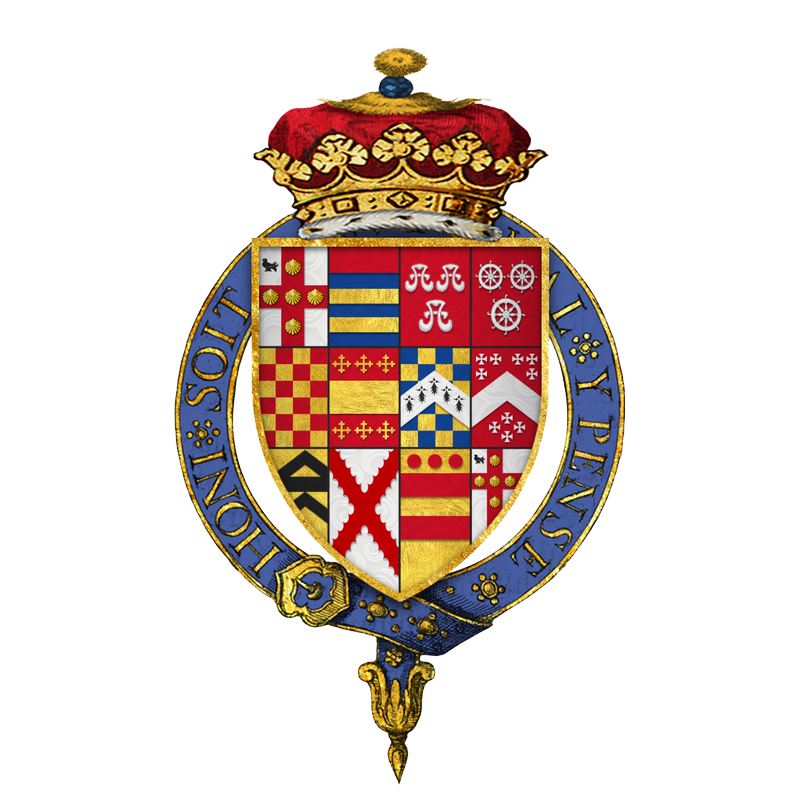 Coat of arms Sir George Villiers, 1st Duke of Buckingham, KG