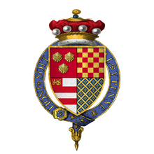 Coat of arms of Sir Thomas Dacre, 2nd Baron Dacre, KG.png