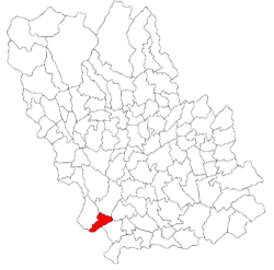 Location of Cocorăștii Colț