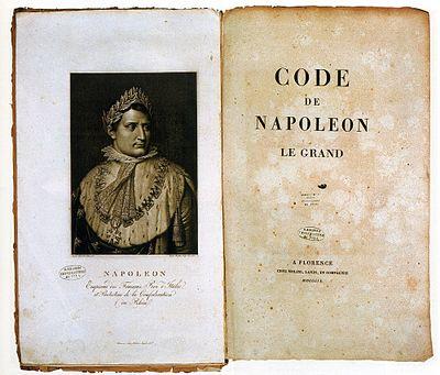 Code Napoleon, originalet