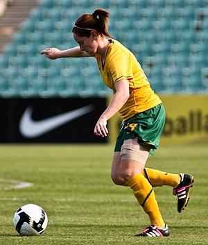 Collette McCallum - McCallum in action for the Matildas.