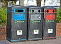 Colour-coded recycling bins outside Somerfield, Lower Northam Road - geograph.org.uk - 1041984.jpg
