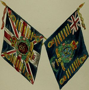 Royal Scots - Regimental colours, 1847